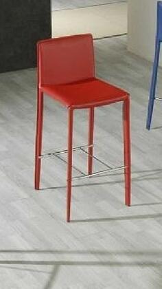 VIG Furniture VGGU825BHRED Residential Leather Upholstered Bar Stool
