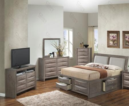 Glory Furniture G1505ITSB4CHDMTV2 G1505 Twin Bedroom Sets