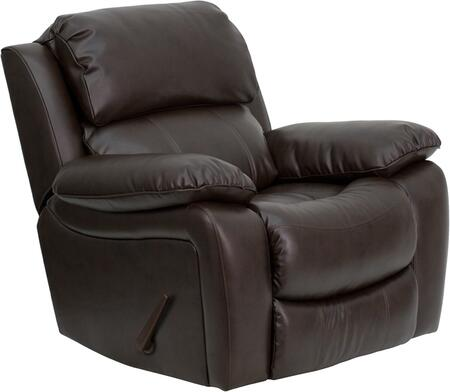 Flash Furniture MENDA343991BRNGG Contemporary Bonded Leather Wood Frame Rocking Recliners