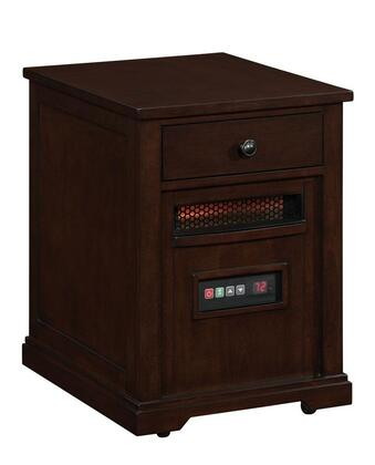 Twin Star 10HET6493 Marbury Duraflame Heater End Table with 6.835 Cu. Ft., 6 Infrared Quartz Heating Elements, 5200 BTU, Infrared Heating Technology, Solid Hardwoods and Real Wood Veneers in