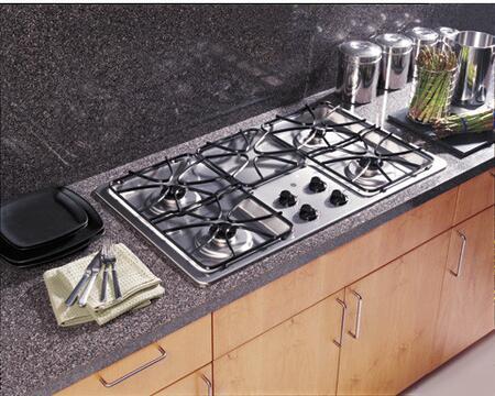 GE JGP628SEKSS  Gas Sealed Burner Style Cooktop, in Stainless Steel