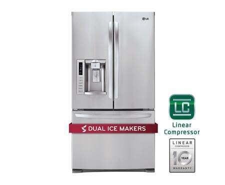 Lg Lfx28979st French Door Refrigerator In Stainless Steel