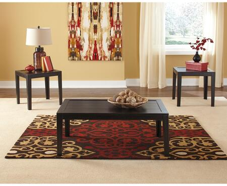 Flash Furniture FSDTS311BKGG Contemporary Living Room Table Set