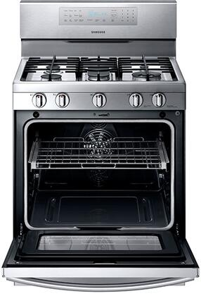 Samsung Nx58f5700ws Kitchen Range Stainless Steel Gas