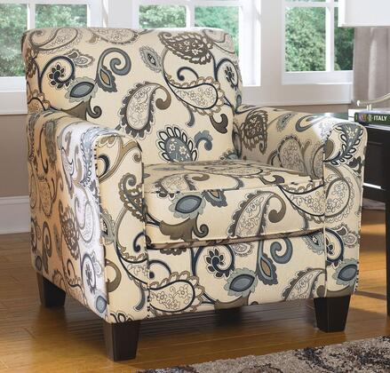 Ashley Yvette 7790021 Accent Chair With Dome Arms Tapered