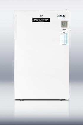 "Summit FF511LBIMEDADA 20"" Medical Series White Compact Refrigerator with 4.1 cu.ft. Capacity"