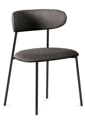 Domitalia ANAISS0K0AN8IW Anais Series Polyurethane Blend Metal Frame Dining Room Chair