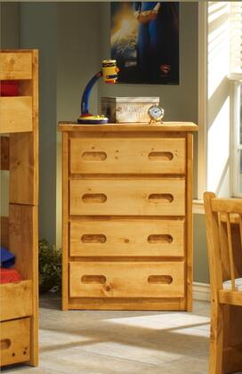 """Chelsea Home Furniture 354477-X 33"""" Chest with Drawers, Rustic Style, and All Pine Wood Construction in Cinnamon"""