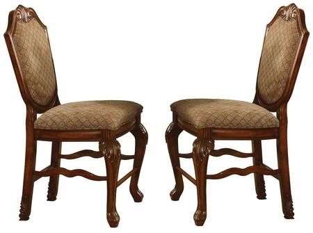Acme Furniture 04084 Chateau De Ville Series Traditional Fabric Wood Frame Dining Room Chair