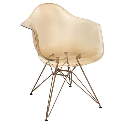 "LumiSource Neo Flair CH-NFL 24"" Chair with Bucket Seat, Geometric Metal and Wood Legs and Flared Arms in"