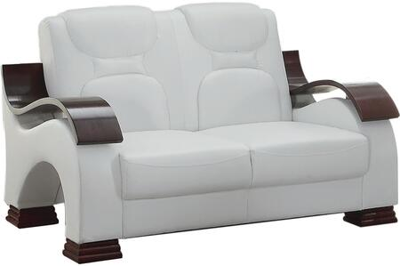 Glory Furniture G487L Faux Leather Stationary Loveseat