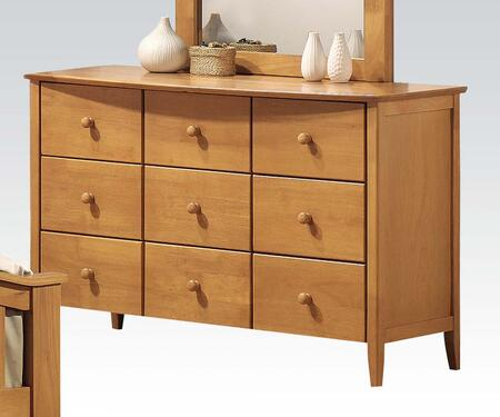 Acme Furniture 0489D San Marino Dresser with 6 Drawers, Rounded Top Edge, Tapered Legs, Hardwood Solids and Veneers in