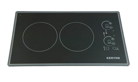 "Kenyon B41776L 21"" Lite-Touch Q Series 2 Element Electric Cooktop, in Black Cortez"