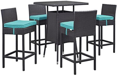Modway EEI1963EXPTRQSET Square Shape Patio Sets