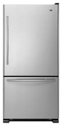 Maytag MBR2258XES  Bottom Freezer Refrigerator with 21.9 cu. ft. Total Capacity 6.3 cu. ft. Freezer Capacity 5 Glass Shelves