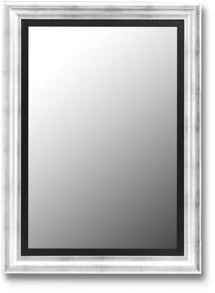Hitchcock Butterfield 20820X Cameo Petite Beveled Mirror in Torino Silver with Black Liner