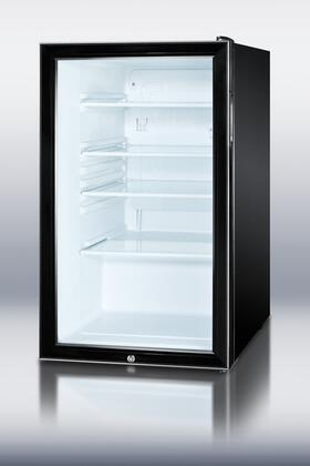 Summit SCR500BLBIADA  Freestanding Compact Refrigerator with 4.1 cu. ft. Capacity, 3 Glass ShelvesField Reversible Doors