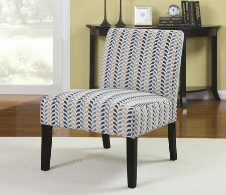 Coaster 902059 Accent Seating Series Armless Fabric Wood Frame Accent Chair
