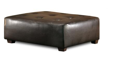 Chelsea Home Furniture 20355BL Modern Vinyl Wood Frame Ottoman