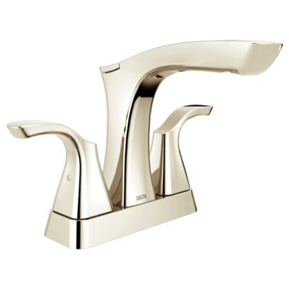 Tesla  2552-PNMPU-DST Delta Tesla: Two Handle Centerset Lavatory Faucet - Metal Pop-Up in Polished Nickel