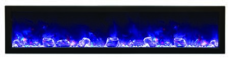 Amantii BI72SLIM Panorama Series Wall Mountable Electric Fireplace
