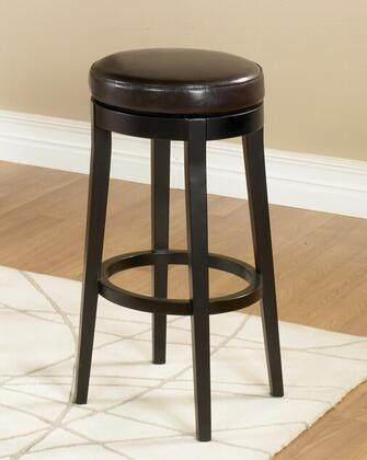 """Armen Living LC450BAX30 Mbs-450 30"""" Backless Swivel Bar stool with 360 Degree Swiveling Mechanism, Solid Espresso Wood Legs and Leather Finish in"""