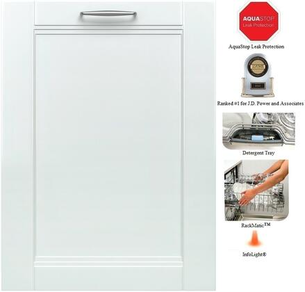 "Bosch 300 Series SHX53TL 24"" 15 Place Setting Capacity Dishwasher With 46 dBA, RackMatic, SpeedPerfect, Time Remaining Display, 24/7 AquaStop, ExtraShine Option & In"