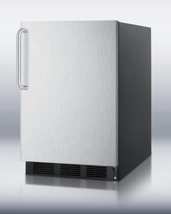 Summit FF6BBI7SSTB FF6BI7 Series Compact Refrigerator with 5.5 cu. ft. Capacity in Black