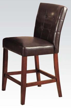 Acme Furniture 07242B Bologna Series Contemporary Leather Wood Frame Dining Room Chair