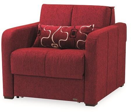 Casamode FERRAFASHIONCHAIRSLEEPERRED24582 Ferra Fashion Series Chair ...