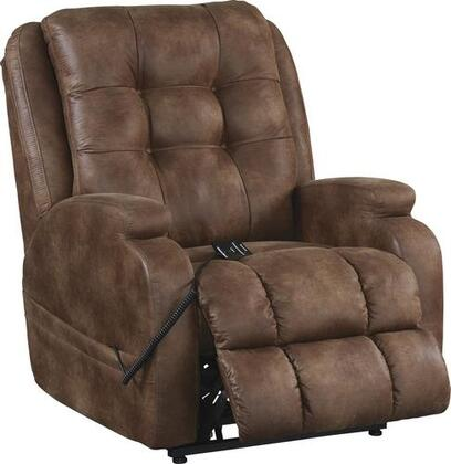 "Catnapper Jenson Collection 4855 35"" Power Lift Recliner with Dual Motor, Plush Multi-Channeled Seat, Uniquely Shaped Arms, Steel Seat Box, Comfort Coil Seating Comfor-Gel and Faux Leather Upholstery"