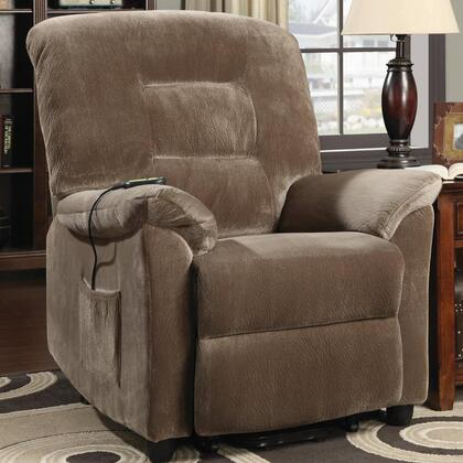 """Coaster Recliners 60102 39"""" Power Lift Recliner with Reclining Mechanism, Plush Padded Arms, Remote Control and Velvet Upholstery in"""