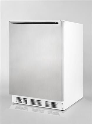 Summit CT66BISSHH  Built In Counter Depth Compact Refrigerator with 5.1 cu. ft. Capacity, 3 Wire ShelvesField Reversible Doors