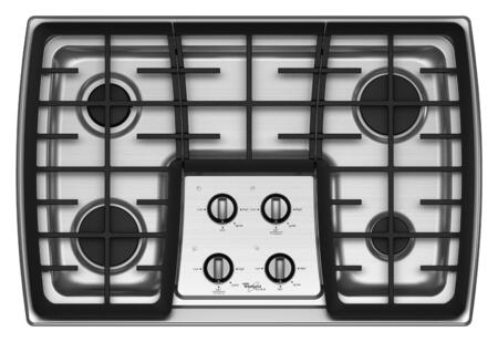 """Whirlpool G7CG3064XS Sealed Burner 30"""" 19"""" 29"""" 4 Gass Cooktop 