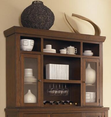 Signature Design by Ashley D69681 Holloway Series Hutch with 7 Shelves