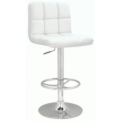 Chintaly 0394ASWHT 0394 Series Residential Vinyl Upholstered Bar Stool