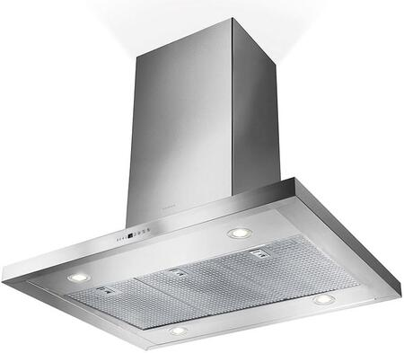 """Faber BELAIxSSS600B 36"""" and 42"""" Island Hood with 600 CFM Motor, Electronics Controls, Delayed Auto Off, LED Lighting, Dimmer Light, Intense Speed and ADA Complaint in Stainless Steel"""
