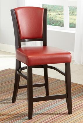 Coaster 103689RED Dining 1036 Series Casual Vinyl Wood Frame Dining Room Chair
