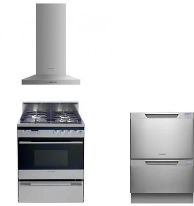 Fisher Paykel FP3PC24DFWMSSKIT2 Kitchen Appliance Packages