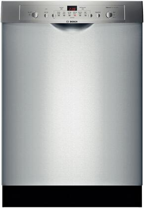 "Bosch SHE3AR75UC 24"" 100 Series Stainless Steel Built In Full Console Dishwasher with 14 Place Settings Place Setting"