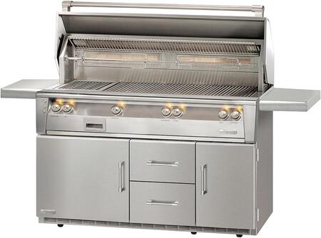 "Alfresco ALXE-56BFGR-LP 56"" Standard Grill Liquid Propane On Refrigerated Base in Stainless Steel"