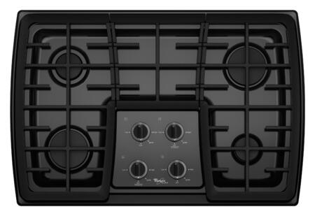 "Whirlpool G7CG3064XB 30"" Gold Series Gas Sealed Burner Style Cooktop 