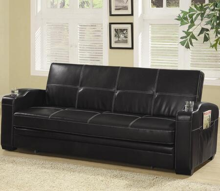 Coaster 300132  Pull Out Faux Leather Sofa
