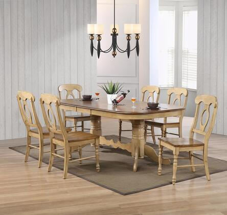 Sunset Trading DLUBR4296C50PW7PC Brook Dining Room Sets