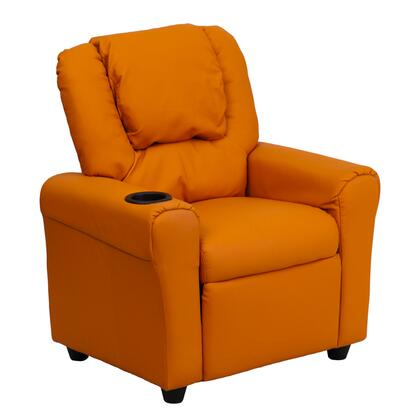 Flash Furniture DGULTKIDORANGEGG Childrens Vinyl Wood Frame  Recliners