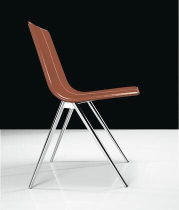 Modloft CDS094ASC0 Mayfair Series Modern Leather Metal Frame Dining Room Chair