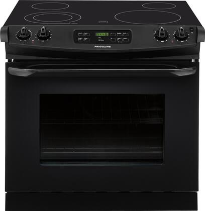 """Frigidaire FFED3025P 30"""" Freestanding Drop-In Electric Range With Large Capacity, SpaceWise Expandable Elements, Ready-Select Controls and Power Cleaning:"""