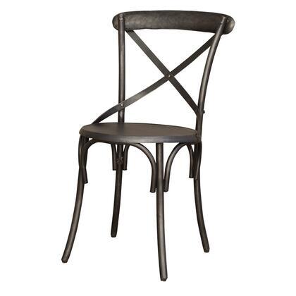 Home Trends & Design FFVDC17Z Traditional Metal Frame Dining Room Chair