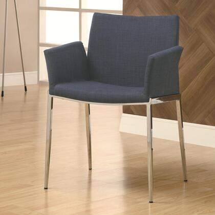 Coaster 120720 Dining 120 Series Contemporary Fabric Metal Frame Dining Room Chair