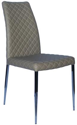 Casabianca CBF3196TP Coco Series Modern Faux Leather Metal Frame Dining Room Chair